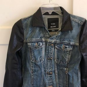 Madewell Denim Leather Jacket